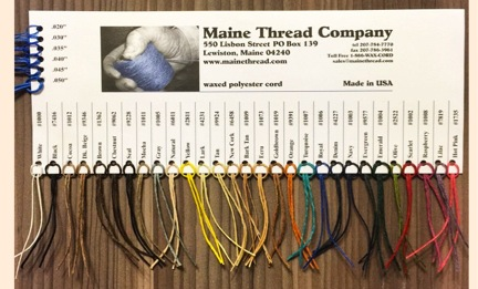 Maine Thread Waxed Cord